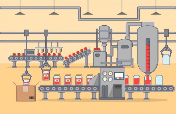 An Illustration Of A Complete Automated Food Processing System For Jam Production